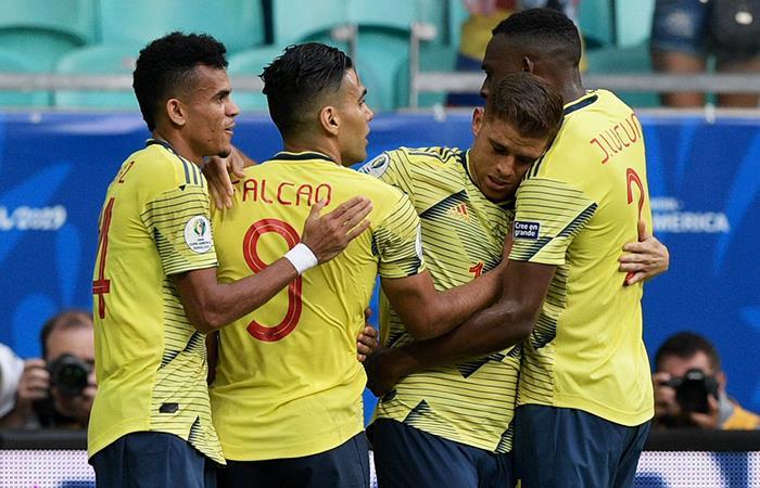 Gustavo Cuellar le dio la victoria a Colombia sobre Paraguay. Foto: Twitter