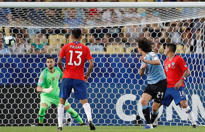 Edinson Cavani marcó el único tanto del partido (Foto: EFE)