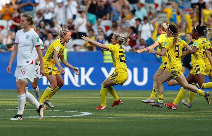 Suecia venció por 2-1 a Inglaterra. Foto: EFE
