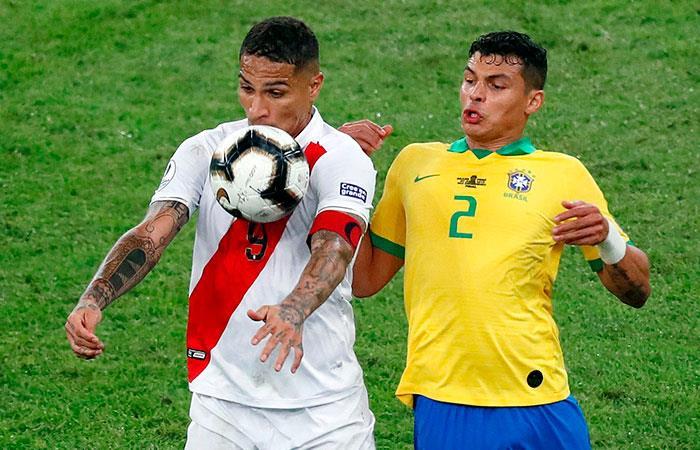 Perú vs Brasil. Foto: EFE