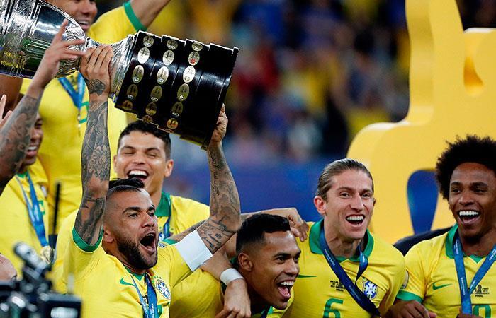 Brasil campeón de la Copa América. Foto: EFE