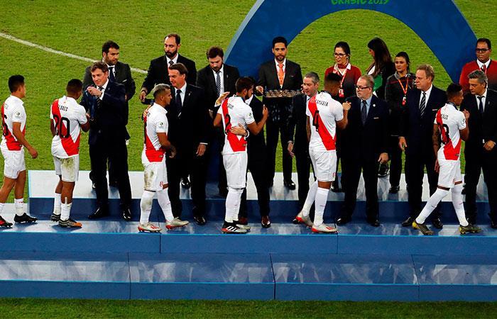 Premiación Perú en la Copa América. Foto: EFE