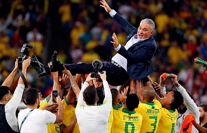 Selección de Brasil. Foto: EFE