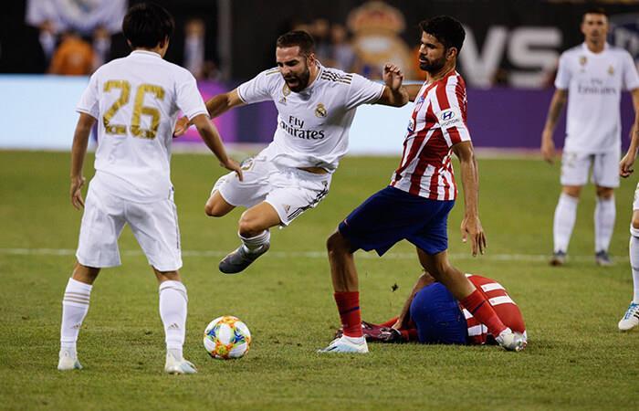 Real Madrid recibió tremenda goleada a manos del Atlético de Madrid. Foto: EFE