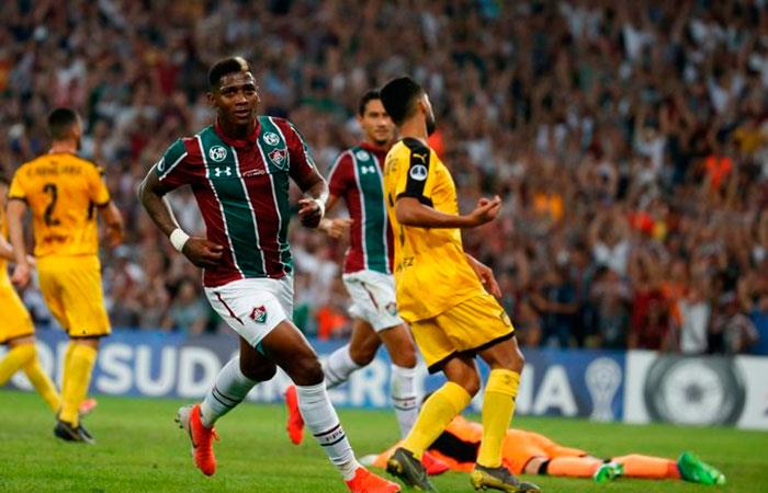 Copa Sudamericana: Fluminense 3-0 Peñarol. (Foto: Twitter)