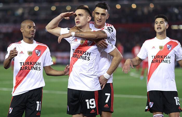 Borré celebra el 2-0 de River Plate (Foto: EFE)
