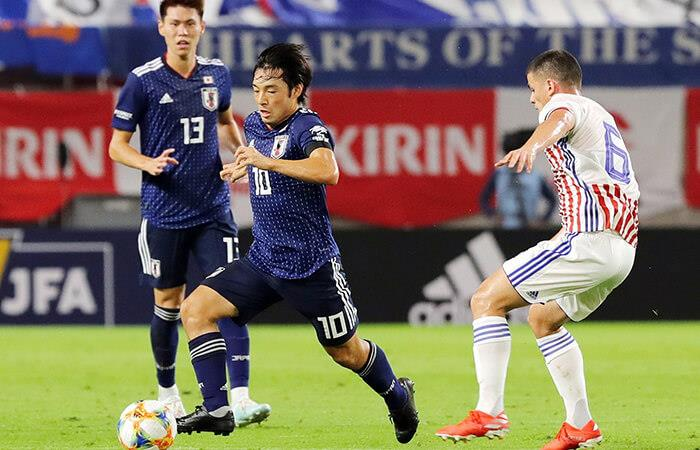 Japón doblegó a Paraguay. Foto: EFE