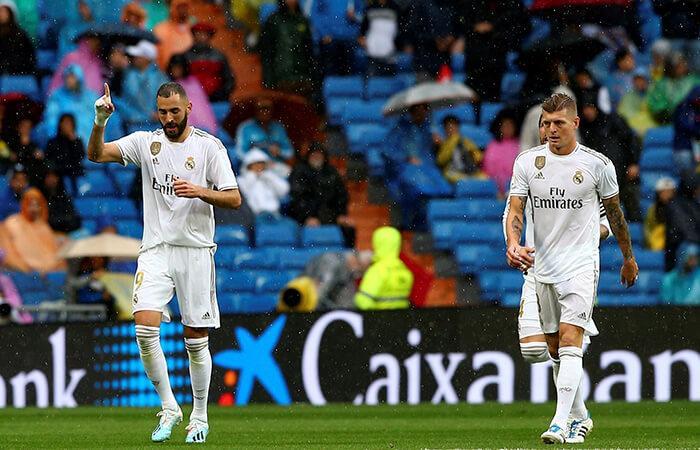 Real Madrid derrotó al Levante. Foto: EFE
