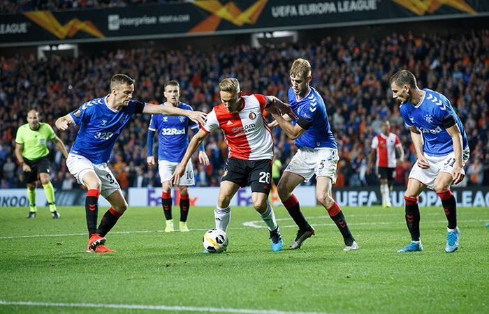Feyenoord no pudo con el Rangers (Foto: EFE)