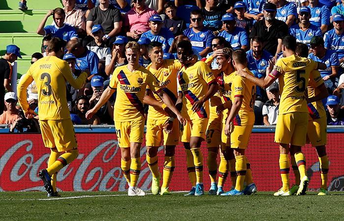 Barcelona 2-0 Getafe. Foto: EFE