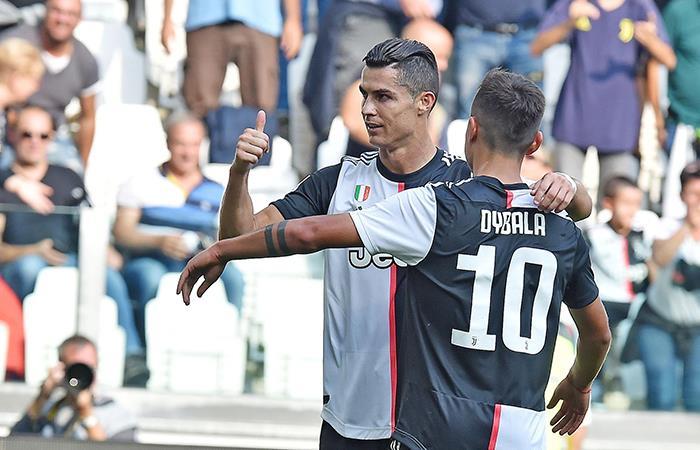 Cristiano Ronaldo marcó el segundo ante Spal. Foto: EFE
