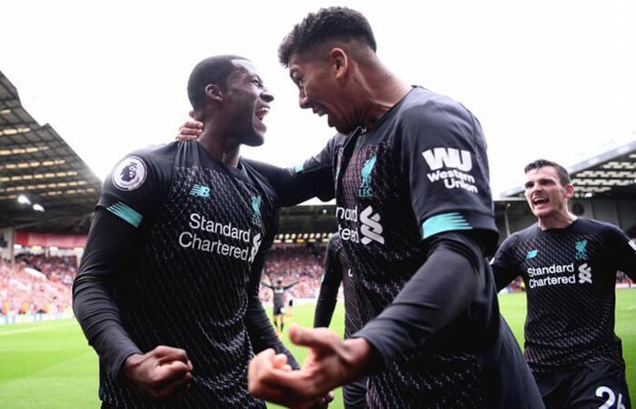 Liverpool festejó en casa del Sheffield United. Foto: Twitter