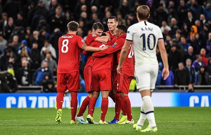 Bayern Múnich goleó 7-2 al Tottenham. Foto: EFE