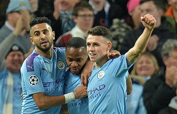 Manchester City goleó al Atalanta con triplete de Raheem Sterling