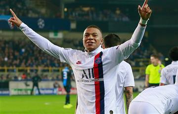 PSG goleó al Brujas con triplete de Kylian Mbappé por la Champions League