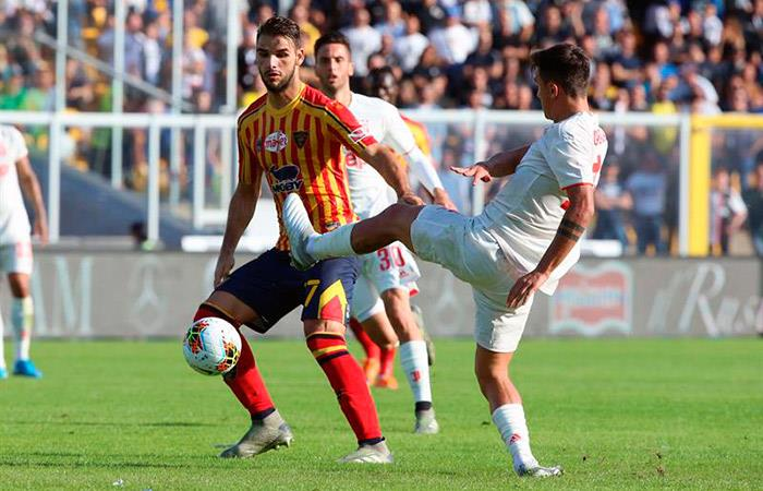 Lecce 1-1 Juventus. Foto: EFE