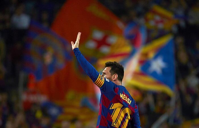 Messi lideró la goleada del Barcelona. Foto: EFE