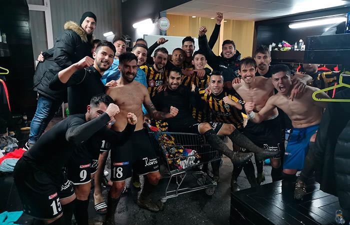 Barakaldo festejó tras triunfo vs Tudelano. Foto: Twitter