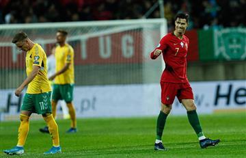 Con 'hat-trick' de Cristiano Ronaldo, Portugal goleó a Lituania por la Eurocopa 2020