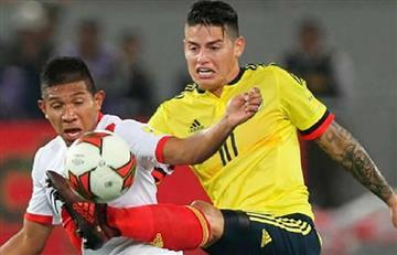 James Rodríguez se perderá el duelo entre la Selección Peruana y Colombia