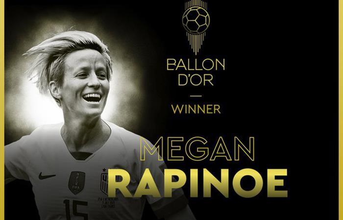 Megan Rapinoe se quedó con el Balón de Oro Femenino (Foto: Twitter)