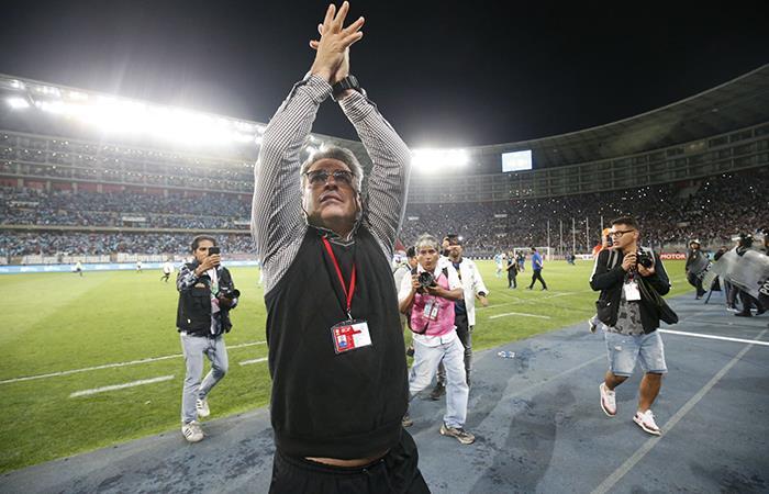 Pablo Bengoechea celebró clasificación a la final de la Liga 1 (Foto: Andina)