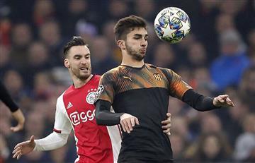 Valencia derrotó al Ajax y lo eliminó de la Champions League