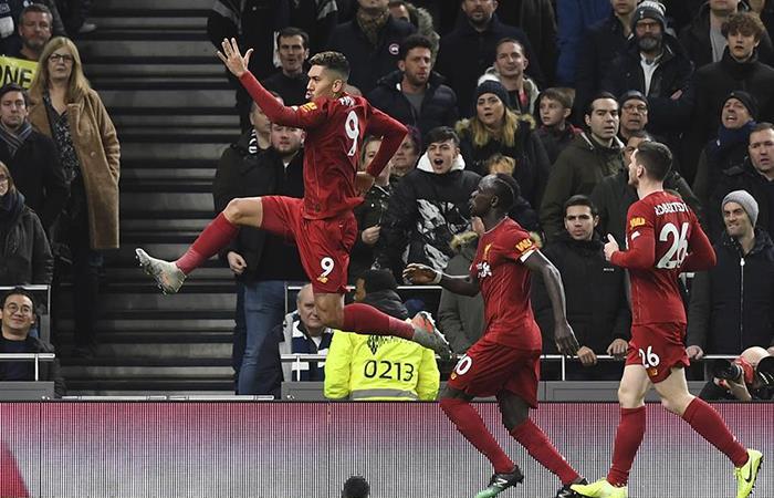 Roberto Firmino marcó el único tanto para el Liverpool. Foto: EFE