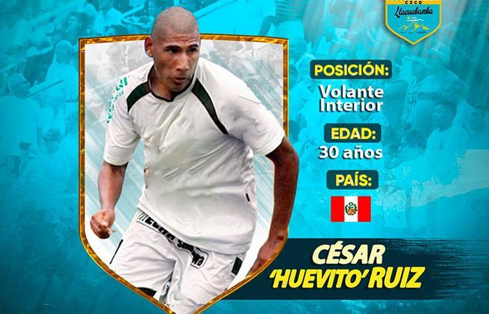 César Ruíz reforzará la volante de Llacuabamba (Foto: Facebook del club)