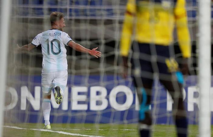 Argentina venció a Ecuador con gol de Mac Allister. Foto: EFE