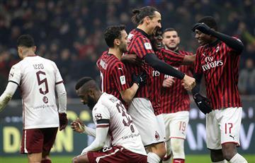 Milan goleó al Torino y avanza a semifinales de la Copa de Italia