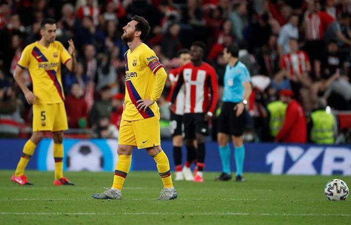 Barcelona cayó de visita ante Athletic Bilbao. Foto: EFE