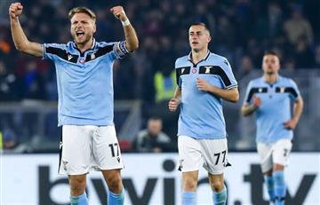 Lazio derrotó al Inter y lo desplazó del segundo lugar de la Serie A