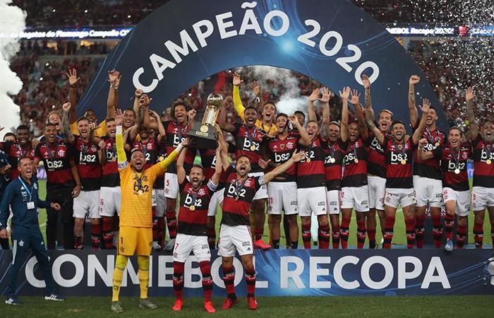 Flamengo se alzó con el título de campeón de la Recopa Sudamericana. Foto: EFE