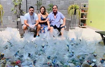 Carlos Zambrano: familia del defensa realizó donaciones a personas más necesitadas