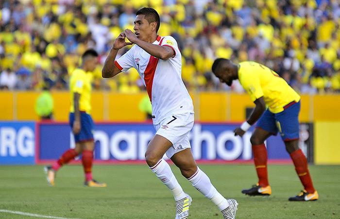 Paolo Hurtado marcó el segundo tanto frente a Ecuador. Foto: Andina