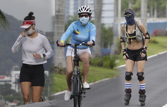 Algunos países dieron licencia para hacer ejercicios con mascarilla. Foto: EFE