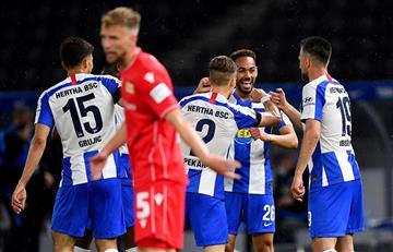 Hertha se llevó el 'derbi' de la capital alemana goleando 4-0 al Union Berlín