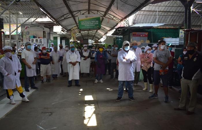Mercados de Barranca fueron cerrados temporalmente para lograr el éxito. Foto: Andina