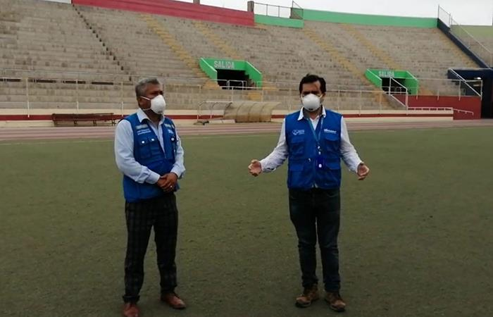 Estadio Manuel Rivera Sánchez recibirá a pacientes con coronavirus. Foto: Andina