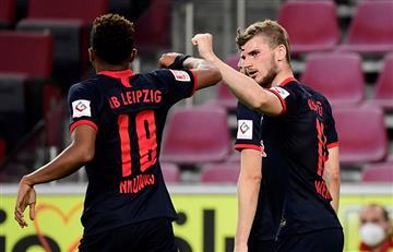 Bundesliga: Leipzig venció 4-2 a Colonia y se aferra en los primeros lugares