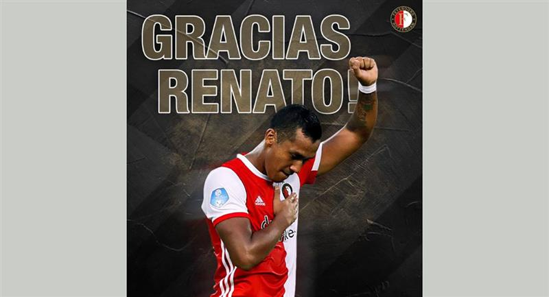 Renato Tapia estuvo en Feyenoord por 4 años y medio. Foto: Twitter - Feyenoord Rotterdam