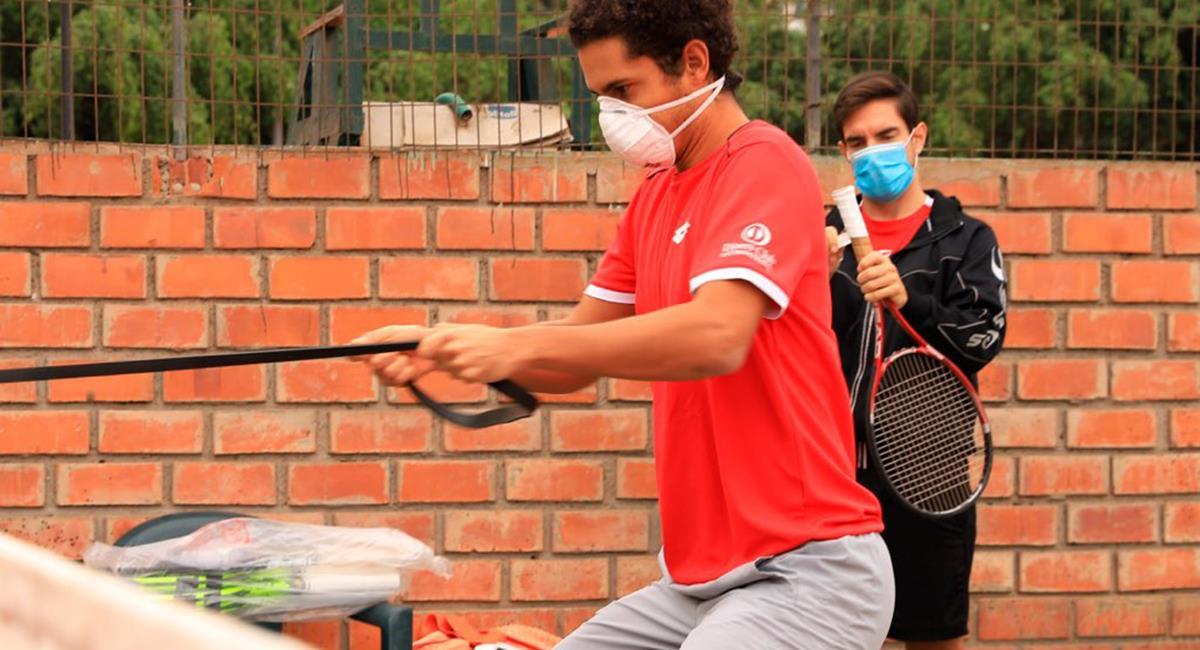 Selección de tenis realizó trabajos en Campo de Marte. Foto: Twitter IPD