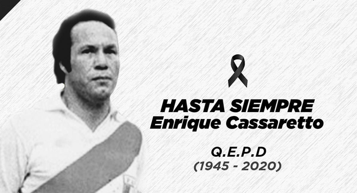 Enrique Cassaretto nos dejó a los 74 años. Foto: FPF