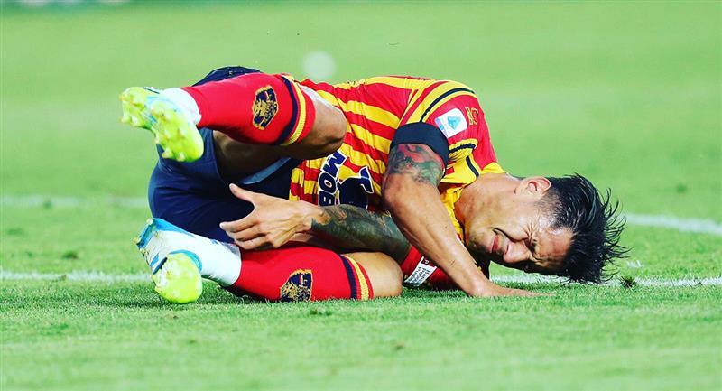 Gianluca Lapadula sufrió lesión en el tobillo. Foto: Twitter Gianluca Lapadula
