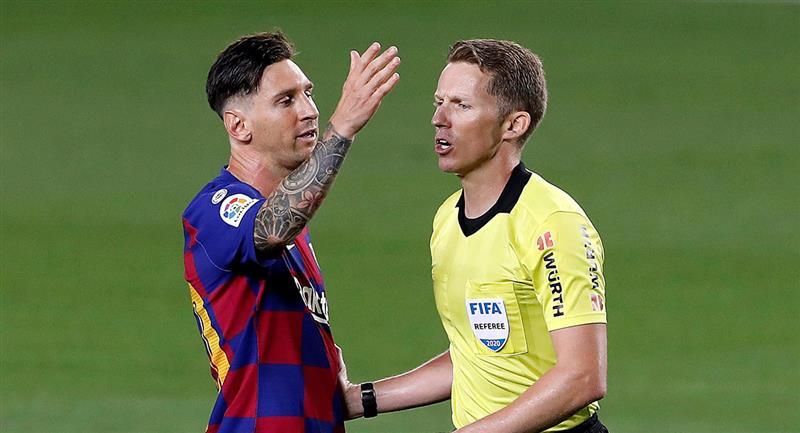 Lionel Messi convirtió de penal ante Atlético de Madrid. Foto: EFE