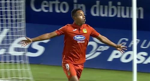 Jeisson Martínez: así fue su gol en el triunfo de 3-0 de Fuenlabrada por LaLiga SmartBank de España