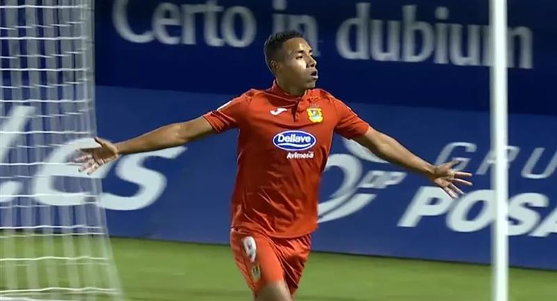 Jeisson Martínez anotó el primer gol de Fuenlabrada. Foto: Captura Youtube
