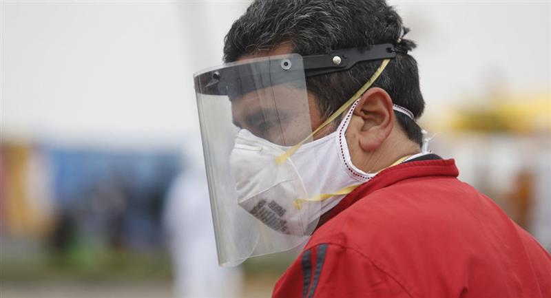 Protectores faciales tendrán que ser usados por la Covid-19. Foto: Andina