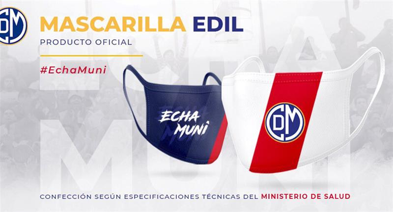 Deportivo Municipal lanzó sus propias mascarillas. Foto: Twitter Deportivo Municipal